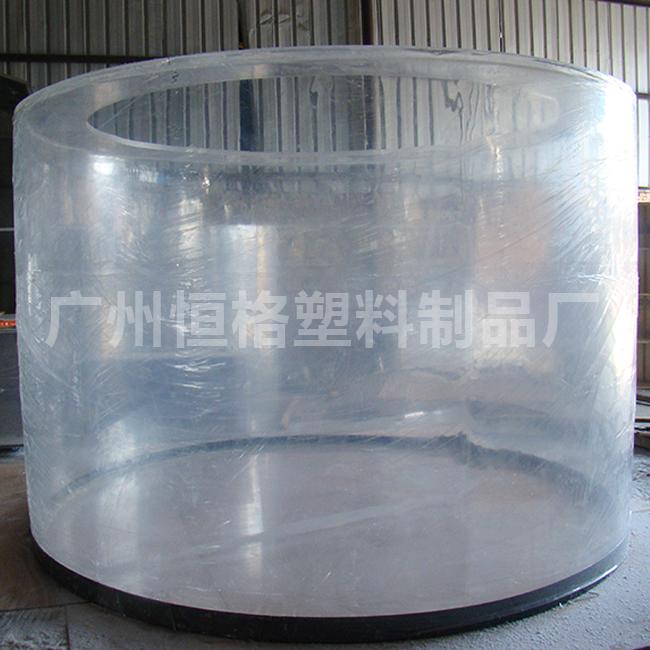 亚克力鱼缸 大口径 有机玻璃圆桶